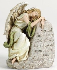 "Joseph's Studio ROMAN 8"" Sleeping Angel Memorial Stone #42083 NEW Stone/Resin"