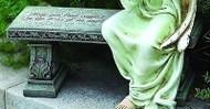 """Joseph's Studio ROMAN Memorial Garden Bench """"May You Find Comfort Arms Angel NEW"""