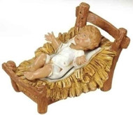 "ROMAN FONTANINI Nativity Infant Jesus and Cradle 12"" Scale #72913 NEW in BOX"