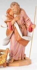 "ROMAN FONTANINI Nativity Joseph Polymer 12"" Scale #52918 NEW in BOX"