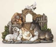 ROMAN Joseph Studio Slim Profile Friendly Beasts Christmas Nativity #34357 NEW