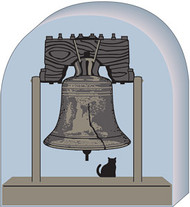 Cat's Meow Village Liberty Bell, Independence Hall  Philadelphia, PA #07-422