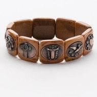 ROMAN Expandable Story of Christ Carved Bracelet #48241