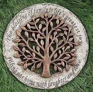 ROMAN Garden Yard Stepping Stone Tree of Life- The blessing of family is life's greatest joy, #10207