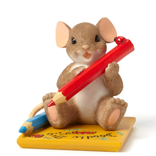"Charming Tails Mouse Mice ""I Love My Little Doodle Bug Artist!"" 4043865"