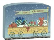 Cat's Meow Village Train Set Car Christmas Presents Line #17-627