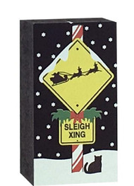 Cat's Meow Village Sleigh Crossing Sign #17-923