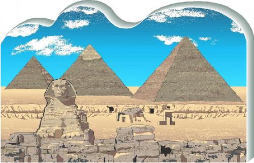 Cat's Meow Village Great Pyramids, Giza Egypt #R957