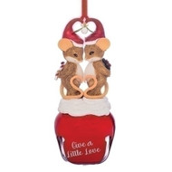 Charming Tails Bell Ornament - Mice #131638