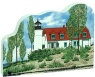 Cat's Meow Village Shelf-sitter Keepsake Point Betsie Lighthouse Frantfort Michigan 18-726