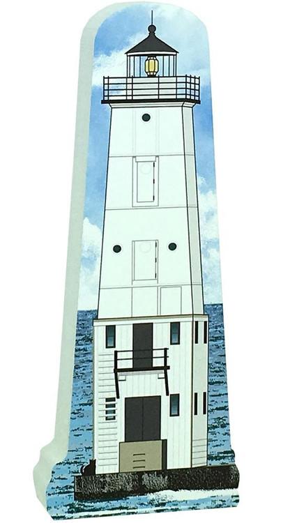 Cat's Meow Village Shelf-sitter Keepsake Frankfort North Breakwater Lighthouse 18-722