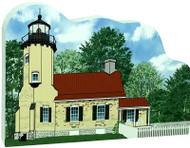 Cat's Meow Village Shelf-sitter Keepsake White River Lighthouse Michigan 18-729