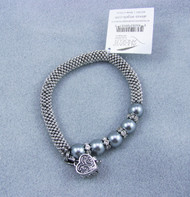 Alexa's Angels Rhodium stretch Prayer Box Bracelet