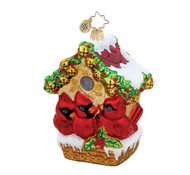 Jingle Bell Hideway Christopher Radko Glass Ornament