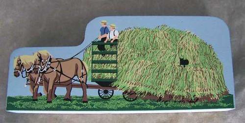 Cat's Meow Village Bringing Home the Hay, Haywagon Amish