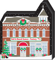 Cat's Meow Village Ball & Board Factory #2 North Pole