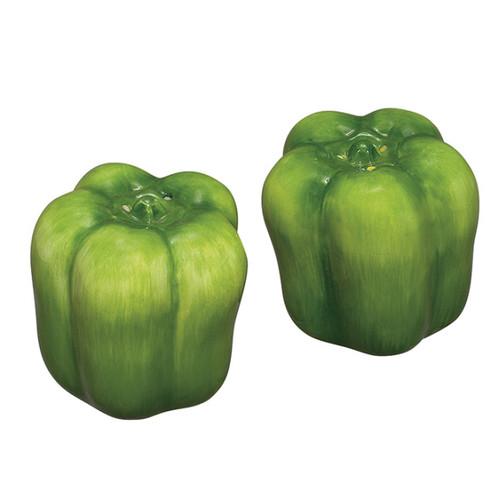 Sadek Green Peppers Salt Pepper Shakers