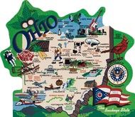 United States Map, Ohio the Buckeye State