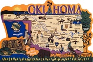 United States Map, Oklahoma Sooner State