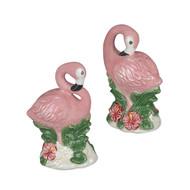 Sadek Pink Flamingo  Salt & Pepper Shakers