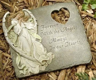 Roman/Joseph's Studio #47477 Garden Memorial Stepping Stone Forever with Angels""