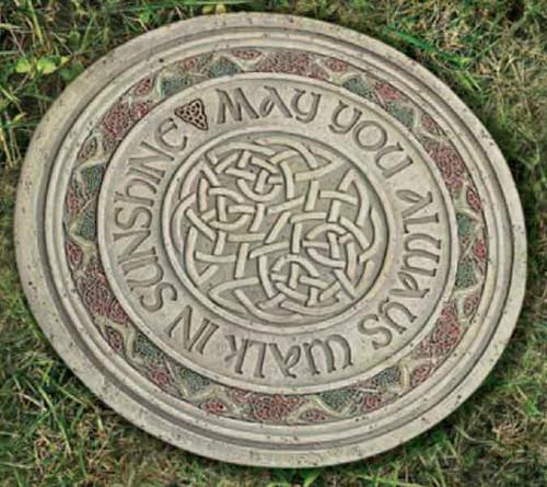 Joseph's Studio ROMAN Garden Celtic Stone May you always walk in sunshine.
