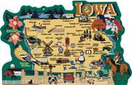 United States Map, Iowa Hawkeye State