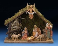 "Fontanini Nativity 8PC Centennial 5"" Stable & Figurines"