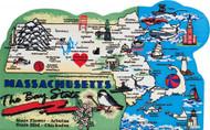 United States Map, Massachusetts Bay State