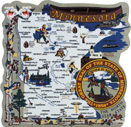 United States Map, Minnesota North Star State
