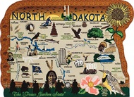 United States Map, North Dakota Peace Garden State
