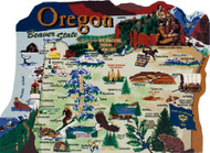 United States Map, Oregon Beaver State