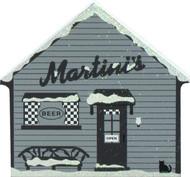 Cat's Meow Village It's a Wonderful Life Shelf Sitter Keepsake - Martini's Bar