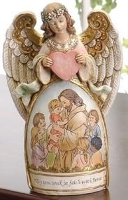Walk in Faith Angel Figure - Jesus and Children #61061