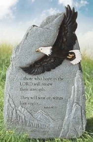 Eagle Garden Stone - Soar on Wings Like Eagles, Isaiah 40:31