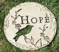 Garden Stone HOPE with Bird - #65431