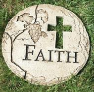 FAITH Cross Garden Stone, Grapes, #65434