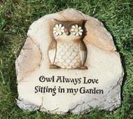 Owl Garden Stone - 65473
