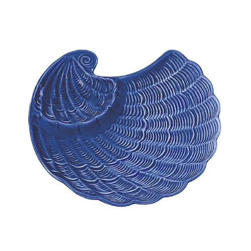 Sadek Nautilus Cobalt Blue Chip Dip Serving Bowl #21378