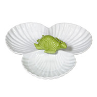 Green Turtle Shell 3-Part Serving Bowl