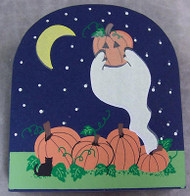 Cat's Meow Halloween Ghosts in Pumpkin Patch Accessory