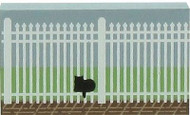 """Cat's Meow Village 2"""" Picket Fence Small Casper #06-118 NEW Shipping Discounts"""