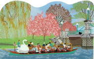 Cat's Meow Village Shelf Sitter - Swan Boat Scene Boston R105
