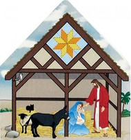 Cat's Meow Village Christmas Quilted Nativity Star Bethlehem #13-732 NEW