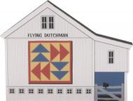 Cat's Meow Village Quilt Block Barn - Flying Dutch Quilt Block 15-413