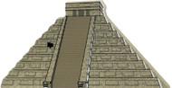 Cat's Meow Village Shelf Sitter - Mayan Chichen Itza El Castillo Castle 00-911