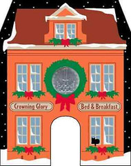 Cat's Meow Village North Pole Crowning Glory Bed Breakfast #14-921