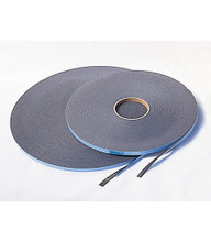 "Foam Glazing Tape Has a closed-cell structure that cannot absorb moisture. Black color, super sticky both sides. 3/8"" wide."
