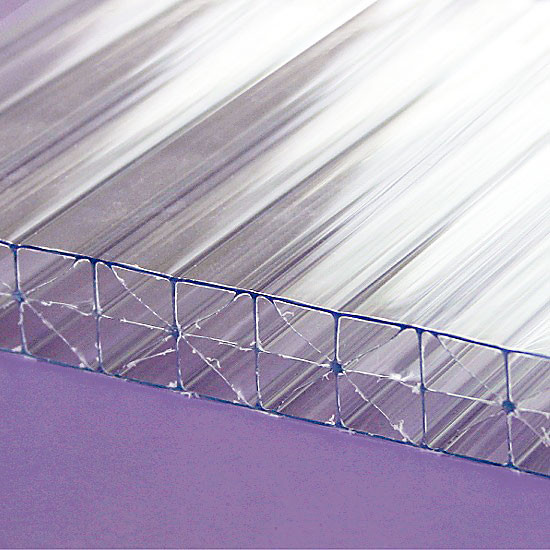24x48x8mm 5//16 PAK of 2 Polycarbonate TWINWALL Clear Sheets BILLION RESOURCES