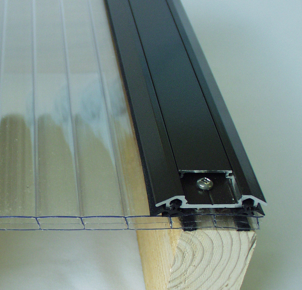 Polycarbonate Store Universal Aluminum Capping For Multiwall